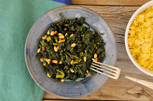 Ayurvedic-Recipe-for-Kale-Chips-with-Pine-Nuts